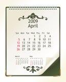 Abril 2009 Imagem de Stock
