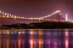 23 abril Brücke nachts Stockbild