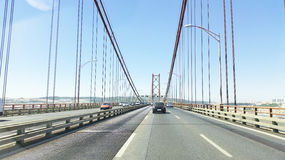 25 Abril bridge in Lisbon Portugal Royalty Free Stock Photos