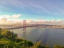 25 abril de ponte arkivfoton