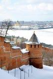 Abril em Nizhny Novgorod Kremlin Rússia Imagem de Stock