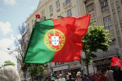 25 Abril - Immigrantenrechten in Portugal Stock Afbeeldingen