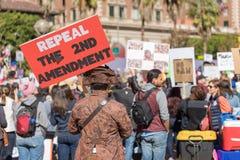 Abrogez le 2ème rassemblement du ` s de personnes d'amendement contre la violence Image libre de droits
