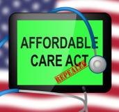 Abrogez ou remplacez les soins de santé abordables d'acte de soin d'ACA - l'illustration 3d illustration libre de droits