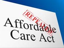 Abrogez ou remplacez les soins de santé abordables d'acte de soin d'ACA - l'illustration 3d illustration stock