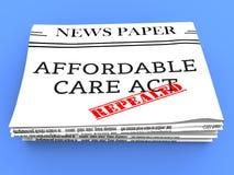 Abrogez ou remplacez les soins de santé abordables d'acte de soin d'ACA - l'illustration 3d illustration de vecteur