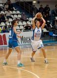 Abrosimova S (25) and Shilova A. (10) Stock Images