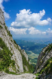 Abrupt valley in the mountains Stock Photography