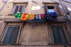 Abruzzo. Ancient windows view of Tagliacozzo Stock Photo