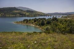 Abruzzo barrage - HDR. Abruzzo barrage in the Gran Sasso and Monti della Laga National Park, Italy stock image