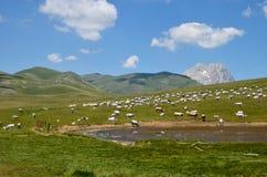 abruzzo berg Arkivfoto