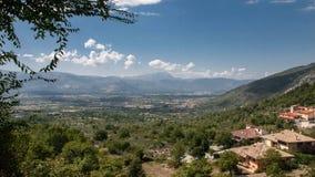 Abruzzo bergsikt Arkivbilder