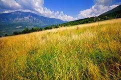 abruzzo fält Arkivfoto