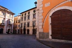 Abruzzo. The main square view of Tagliacozzo Stock Photos