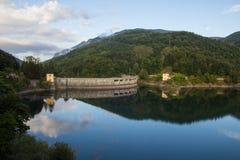 Abruzzo mountain lake, Italy. Stock Photo