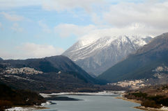 Abruzzo National Park. Barrea Lake Stock Photography