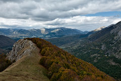 Abruzzo National Park from the top Royalty Free Stock Image