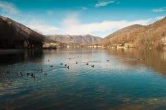 Abruzzo - Scanno Arkivfoton