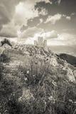 Abruzzo slott Royaltyfri Fotografi