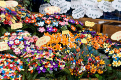 Abruzzo Sweets. Sugared almonds, the famous sweets from the Italian region of Abruzzo, crafted into flowers and other fun and colourful shapes stock image