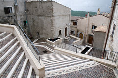 Abruzzo Town Scenics - Mosaic Steps Stock Images