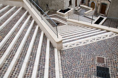 Abruzzo Town Scenics - Mosaic Steps Stock Photo