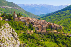 Abruzzo traditional medieval villages, Italy Stock Images