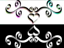 Abs_05. Vector illustration of a tribal swirls Royalty Free Stock Photography