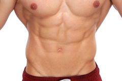 Abs abdominal muscles bodybuilder bodybuilding body builder buil Stock Photos