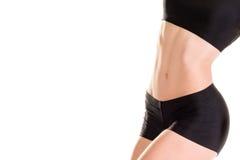 Abs av slanka muskulösa kvinnor Arkivbild