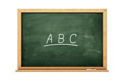 ABC chalkboard stock photography