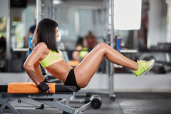 Abs crunches at the gym Stock Images