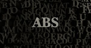 ABS - 3D rendered metallic typeset headline illustration. Can be used for an online banner ad or a print postcard vector illustration