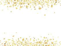 ABS del oro del confeti Fotos de archivo