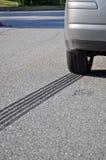 ABS Emergency braking tracks Royalty Free Stock Image