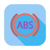 ABS flat single icon. ABS flat single color icon. Vector illustration Stock Image