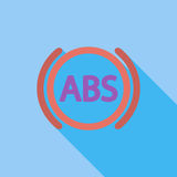 ABS flat single icon. ABS icon. Flat vector related icon with long shadow for web and mobile applications. It can be used as - logo, pictogram, icon Royalty Free Stock Photography