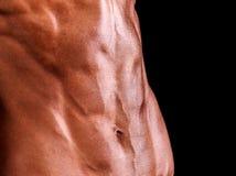 ABS musculoso de una mujer fuerte Imagen de archivo libre de regalías