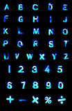 ABS neon letters. Stock Image