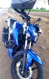 ABS 4v Fernsehen Apache 160 das indische nackte Fahrrad des Tieres stockbild