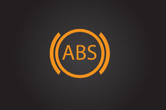 ABS warning icon. ABS warning sign. Car dashboard icon. Flat  stock illustration Royalty Free Stock Photography