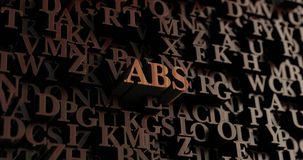 ABS - Wooden 3D rendered letters/message. Can be used for an online banner ad or a print postcard Royalty Free Stock Images