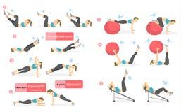 ABS workout για τις γυναίκες Στοκ φωτογραφίες με δικαίωμα ελεύθερης χρήσης
