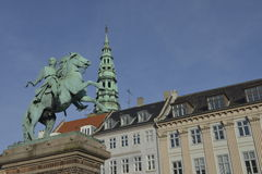 Absalon, il guerriero-vescovo e fondatore di Copenhaghen Fotografie Stock Libere da Diritti