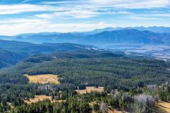 Absaroka Mountain Range. View of forest and Absaroka Mountain Range from Clay Butte near Yellowstone National Park Stock Photography