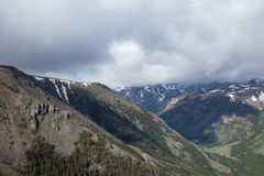 Absaroka Mountains. The Absaroka Mountains beneath a cloudy sky Stock Images