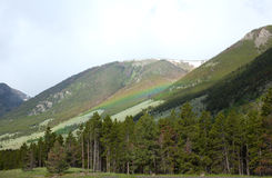 Absaroka Mountains. A rainbow in the Absaroka Mountains Stock Photography