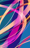 Absatract lines. Abstract vector background with lines Stock Images
