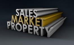 Absatzmarkt-Eigentum lizenzfreie abbildung