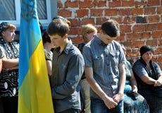 Abschied zu den gefallenen Verteidigern von _6 Ukraine Denis Gromovyy Lizenzfreie Stockfotografie